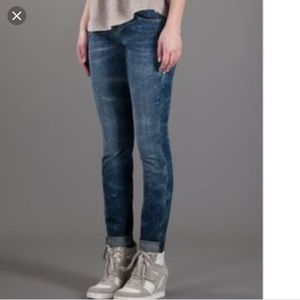 Current Elliot rolled skinny write on jeans 26